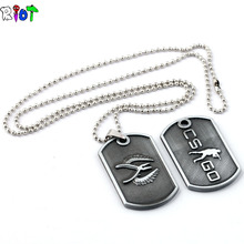 New Stainless Steel Cs Go Necklace Counter Strike Name Tag Pendant Neckless CSGO Dog Tag Collier Jewelry Game Theme Cs Go