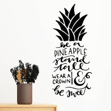 Be a Pineapple Stand Tall Wear a Crown & Be Sweet Removable Wall Sticker Art Decals Mural DIY Wallpaper for Room Decal(China)