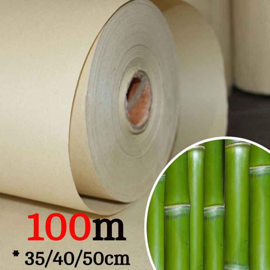 100m Bamboo rice paper half-Ripe Rice Paper Roll Chinese Painting Calligraphy paper Artist Painting supplies<br>