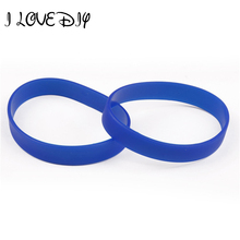 New 2pcs Assorted Custom New Design Charm Bracelet Elastic Rubber Wristbands for Sport man(China)