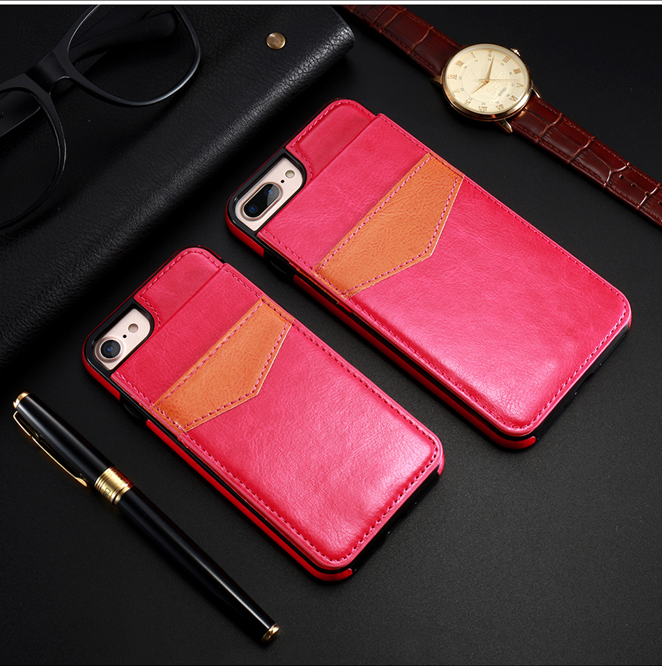 crazy horse vertical flip cover for iPhone 6 7 Plus (10)