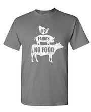 GILDAN Graphic make a tee shirt NO FARMS NO FOOD - farmer homestead crops - Mens Cotton T-Shirt Stretch make custom t shirts