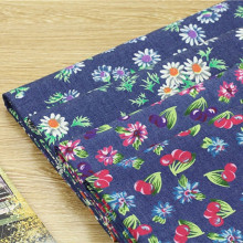 50x145cm Print Floral Cherry Denim Fabric DIY Dress Trousers Bag Patchwork 819-5