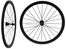 WS-CW03 : 3K Carbon Glossy Cycling Road Bike Clincher Wheelset 38mm 700C Bicycle Wheel Rim Basalt Brake Side