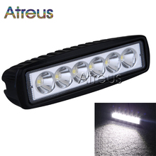 Atreus 6Inch 18W 6x3W Car LED Work Light Bar 12V Spot Flood Waterproof For Offroad Boat Tractor Truck 4x4 ATV car accessories(China)