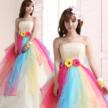 Vestido De Debutante Sweet Ball Gown Colorful Crystal Quinceanera Dresses Rainbow Sparkly Quinceanera Dresses
