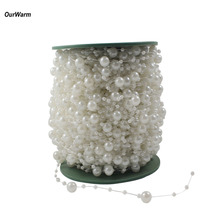 Ourwarm 10 Meters Fishing Line Artificial Pearls Beads Chain Garland Flowers DIY Jewelry Accessories Wedding Party Decoration(China)