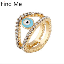 Find Me 2018 brand Gypsy Vintage Unique Carved Antique punk Lucky Rings for Women Jewelry Boho Beach boho big gem crystal rings(China)