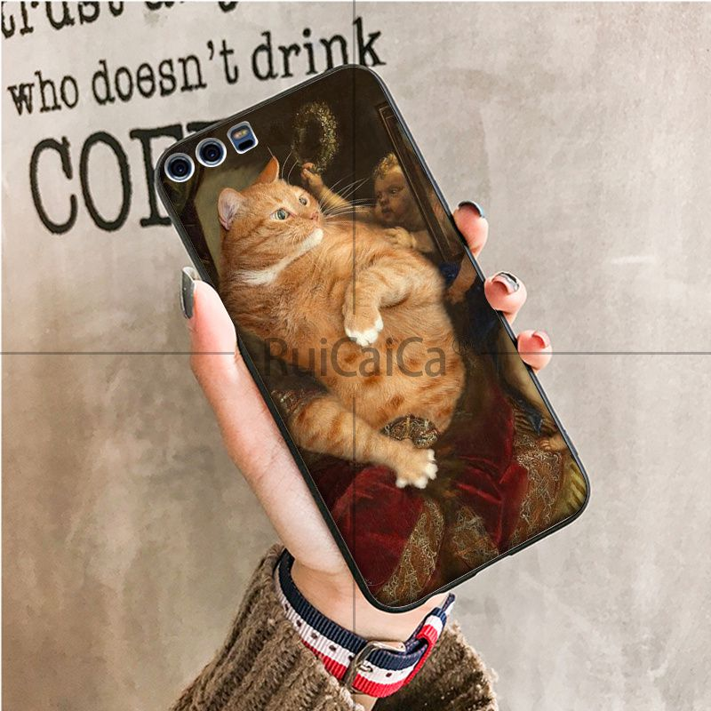Famous painting Orange cat