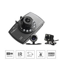 Dual Lens 2.7inches High Cost Performance Cycle Recording Car DVR Camera HD1080P Logger Night Vision With Rearview View Camera(China)