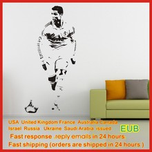 T965  Aiwall CRISTIANO RONALDO Soccer Ball Football Wall sticker Vinyl Decals Free Shipping