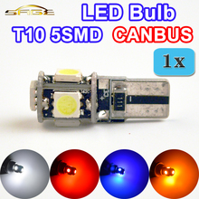 flytop T10 5SMD LED CANBUS 5050 SMD W5W 194 Error Free Car Light Auto Bulb White Red Blue Yellow Color CAN BUS Automotive Lamp