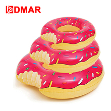 DMAR Inflatable Donut Swimming Ring Giant Pool Float 2 Colors Swimming Circle For Adult Kids Mattress Beach Water Party Toys