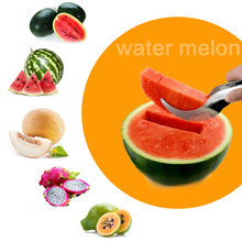 Stainless Steel Cantaloupe Watermelon Slicer Corer Fruit Cutters Vegetable Knife Kitchen Tools Gadgets Free Shopping