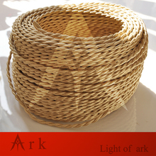 10 meters Fabric Cable cord for Vintage Pendant light 110/220V Decoration lamp Cables Gold Knitted Cloth Twisted Electrical Wire(China)
