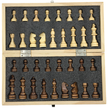 Magnetic & Folding Wooden Chess Set Board Size 23.7 cm x 23.7 cm Extra Queen Board Games Kids Gift Toy For Travel Portable(China)