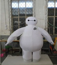 100% Real pictures 2015 New Big Hero 6 Baymax Supercute Unisex Mascot Costume Cartoon Movie Mascot Costume Adult(China)