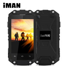 IMAN X2 Mobile phone Waterproof IP65 2.45 inch Android 5.1 1GB RAM 8GB ROM MTK6580 Quad Core Wifi GPS 3G WCDMA FM OTG Smartphone(China)