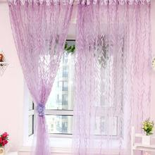 1PC Stylish Willow Tulle Voile Window Curtains Panel Sheer Scarf Door Valances
