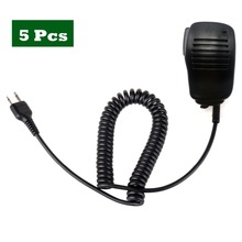 5PCS Police Handheld Speaker Mic Microphone PTT for ICOM Walkie Talkie for IC-A2 IC-V80 IC-V85 IC-F3S IC-V82 for Vertex VX-200