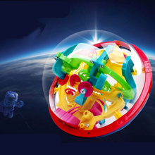 100 Steps 929A Labyrinth Magic Rolling Globe Ball Marble Puzzle Cubes Brain Teaser Game Sphere Maze  Intellect Ball Educational