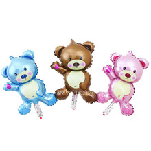 XXPWJ new mini Bear Teddy Bear foil balloon aluminum balloons birthday party decoration balloon wholesale baby