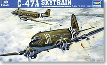 "Trumpeter 1/35 scale model 02828 World War II US C-47A ""air train"" transport aircraft *"