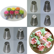 17 Kinds Style Tulip Flowers Icing Piping Nozzles Pastry Tips Metal Mold Fondant Cupcake Buttercream Chocolate Cake Bakery Tools