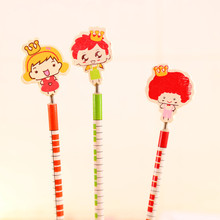1 piece New hot creative cartoon wood HB pencil Big head baby style pencil  students  stationery children gift