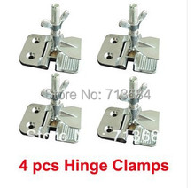 4 pcs Simple SS Hinge Clamps Tool For Silk Screen Printing screen press