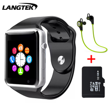 LANGTEK Bluetooth Smart Watch A5 Sport WristWatch Support SIM TF Card Intelligent Bracelet For Android Phone With Camera(China)