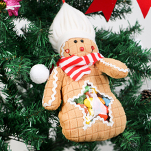 Super Cute Christmas Candy Bag Cloth Cookie Shape Candy Container Christmas Tree Drop Ornaments Party Home Decoration CKG23(China)