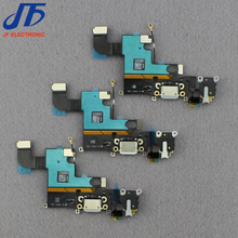 "10pcs/lot Charging Charger Port USB Dock Connector Flex Cable For iPhone 6 4.7"" 6G with Headphone Jack Mic Flex Cable Ribbon"