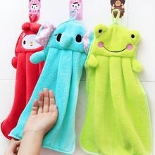 Cute Animal Hand Dry Towel Lovely Towel For Kitchen Microfiber Kids Children Cartoon Absorbent Bathroom Use