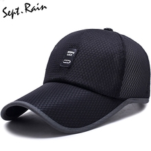2017 Mens Summer Adjustable Mesh Fitted Baseball Caps Male Simple Black Formal Snapback Dad Hat Fashion Breathable Truck Hats