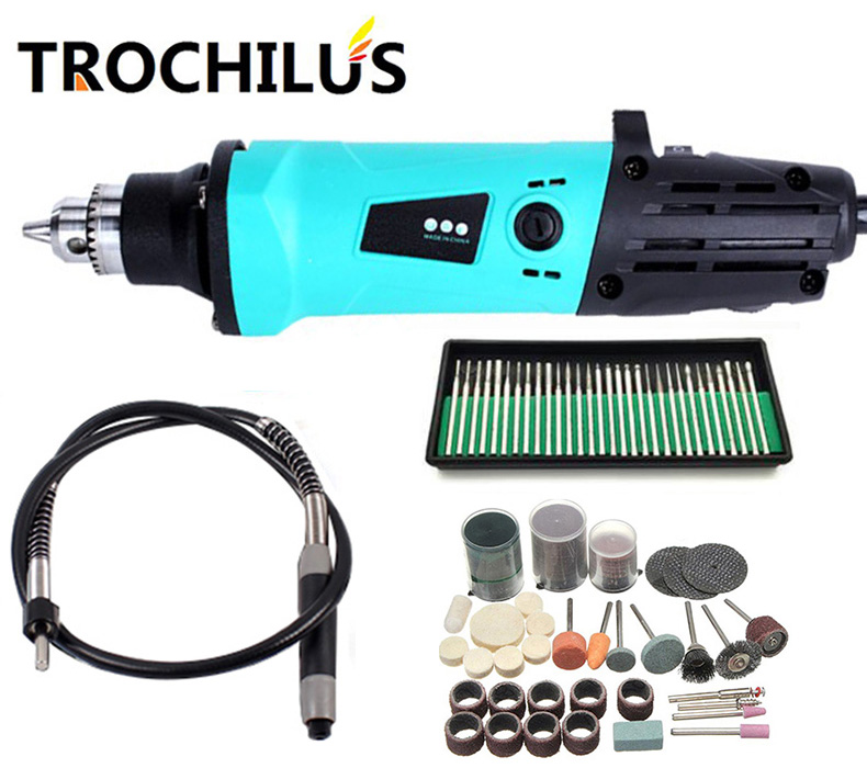 Trochilus 380W multi-function electric engraver variable speed mini grinder  DIY creative combination  tool kits<br>