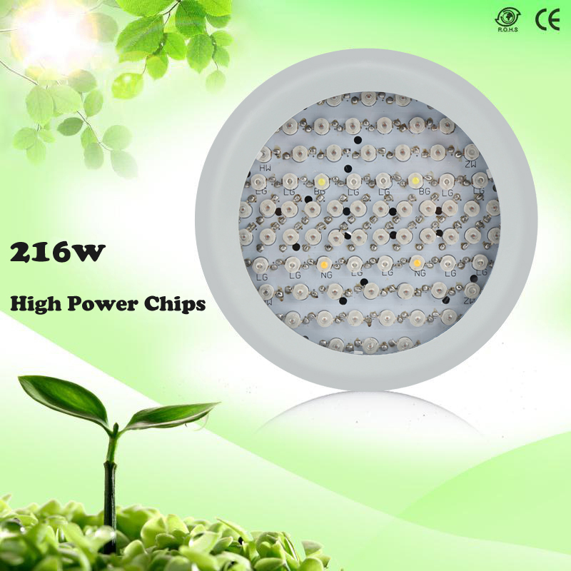 New 216W Full Spectrum LED Plant Grow lights AC85-265V Growing lamp UFO grow light for Flower Hydroponics System Grow Box<br>