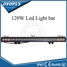 Guangzhou factory 12/ 24 volt 120W cheap led off road light bars spot flood light for truck tractor 4x4 ATV