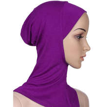 2 In 1 Women Scarf Cap For Muslim Cotton Fabric Hijab Head Wear Neck Cover For Islamic Women(China)