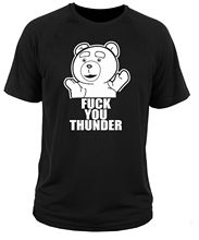 2017 New Arrivals Hipster Ted F**K You Thunder Comedy 3D Printed Men's Tee Tops 100% Cotton Short Sleeve Tee