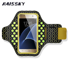 "4.7"" Luminous LED Flashing PVC Armband Case For iphone 7 6 6s Samsung galaxy s6 s6 edge S5 S4 S3 Running Sports Arm Band Case(China)"