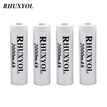 4pcs RHUXYOL 2000mAh NIMH AA Cell accumulator Rechargeable Battery NI-MH 1.2V 2A Baterias Recargable Batteries vs gp 3600 3000