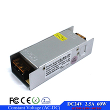 Mini Size dc24V 2.5A 60W Single output Switching Power Supply Driver for LED Strip AC 100-240V Input to DC 24V SMPS With CNC(China)