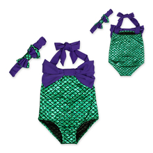 New Baby Girls Summer Sets Kids Girls 2pcs Swim Mermaid Beachwear Girls biquini infantil Bathing Children's Girls Outfits DS30
