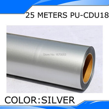 25M Length Silver Color One Roll Silver PU Heat Transfer Film Vinyl