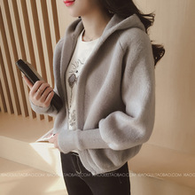 spring autumn women hooded sweaters cardigans casual student hooded open cardigans sweater free shipping