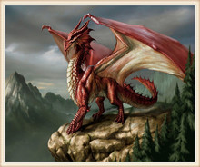 3D Diamond Painting Cross Stitch Pattern 5D Diamond Embroidery Red Dragon diamond Mosaic Resin Home Decor DIY diamond art(China)