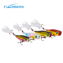 TSURINOYA NEWEST POPPER Lure 40mm 3g Mini Bait Hard Bait Artificial Baits Top water Fishing Lures Fake Baits Bass Trout Culter(China)