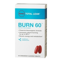 Total Lean Burn 60 - Cinnamon Flavored (Black Tea Leaves, Ginger, MegaNatural Grape Skin Seed) - lose weight + Free shipping