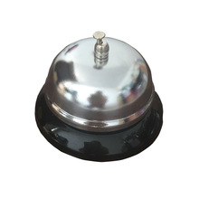 1Pcs New Sivler Color Desk Kitchen Hotel Counter Reception Restaurant Bar Ringer Call Bell Service Ring 8.5cm F2199(China)